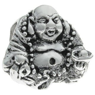 Queenberry Sterling Silver CHINESE HAPPY Laughing Buddha European Bead Charm