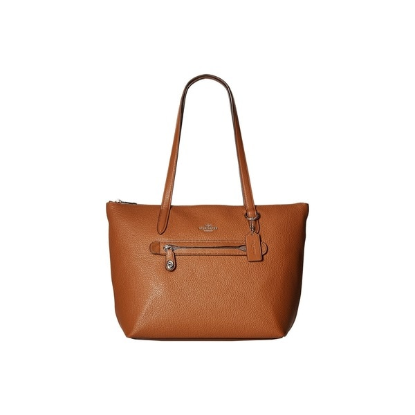 Coach Taylor Saddle Brown Pebbled Leather Tote Bag