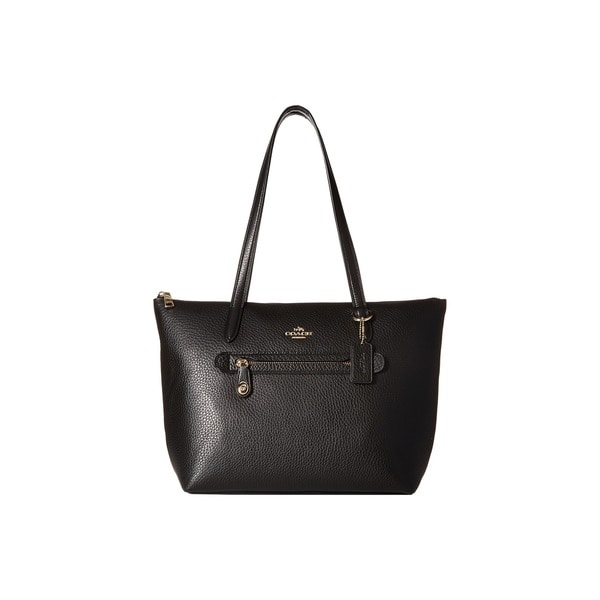 Coach Taylor Pebbled Black Leather Tote Bag