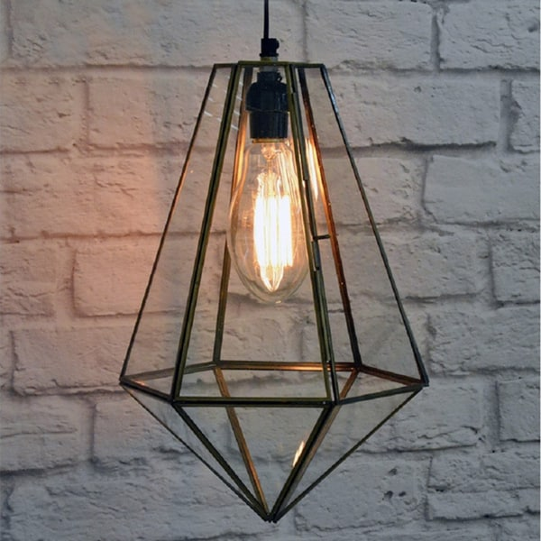 Tear Drop Glass Terrarium Lamp