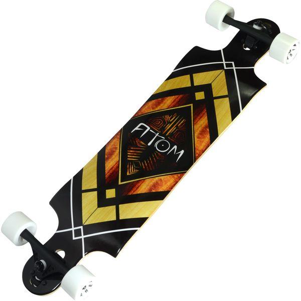 Atom Woody Diamond 38-inch Double Drop Longboard