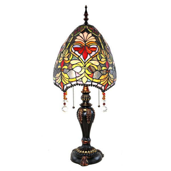 Beaded, Stained Glass Tiffany-Style Table Lamp (30.5 in.) 22340080