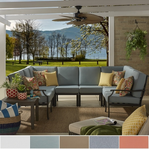 Matira Metal Modern 6 Piece 8 Seater U Shaped Outdoor Sectional by iNSPIRE Q Oasis 22340526