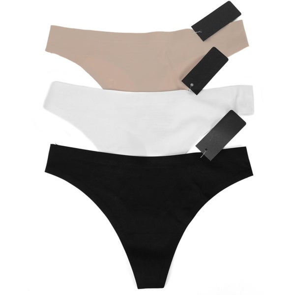 Seamless Thong Panties (Set of 3)