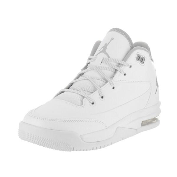 Nike Jordan Kids Jordan Flight Origin 3 Bg White Leather Basketball Shoes