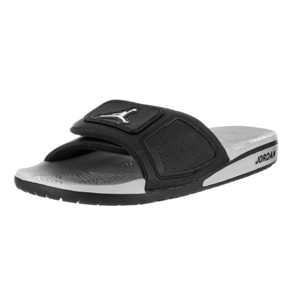 Nike Jordan Men's Black Faux Leather Hydro III Retro Sandal