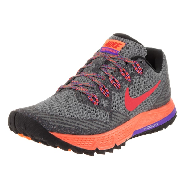 Nike Women's Air Zoom Wildhorse 3 Grey Mesh Running Shoes
