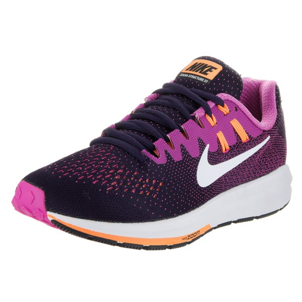 Nike Women's Air Zoom Structure 20 Purple Mesh Running Shoes