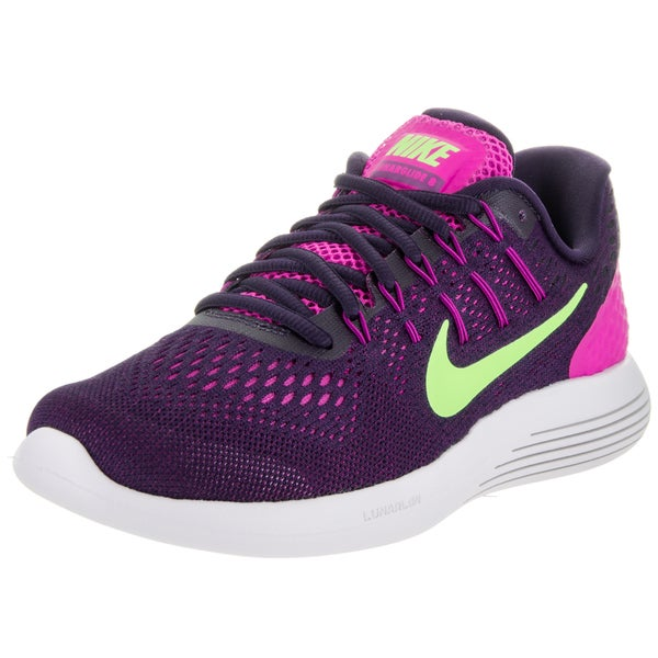Nike Women's Lunarglide 8 Purple Flyknit Running Shoes