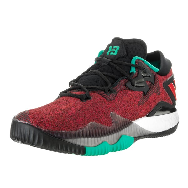 Adidas Men's 2016 Crazylight Boost Red Textile Low-top Basketball Shoes