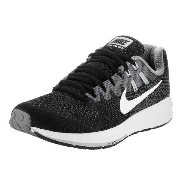 Nike Women's Air Zoom Structure 20 Black Mesh Running Shoes