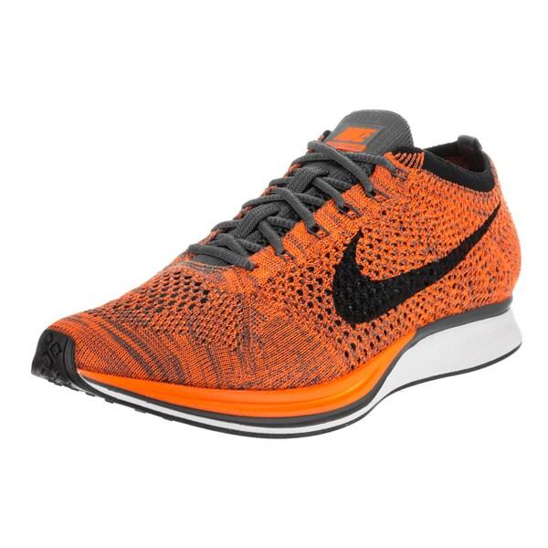 Nike Unisex Orange Flyknit Racer Running Shoe
