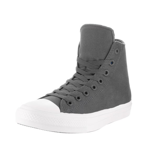 Converse Unisex Chuck Taylor All Star II Grey Canvas High Basketball Shoe