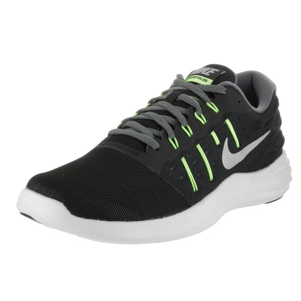 Nike Men's Lunarstelos Black Mesh Running Shoe