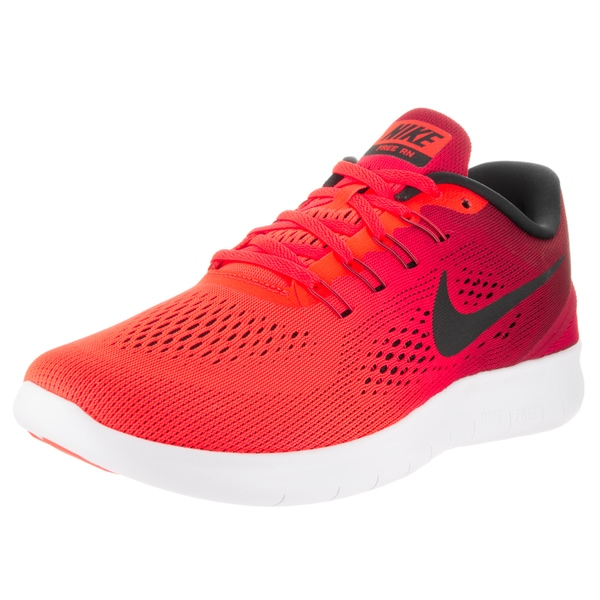 Nike Men's Free RN Red Textile Running Shoes
