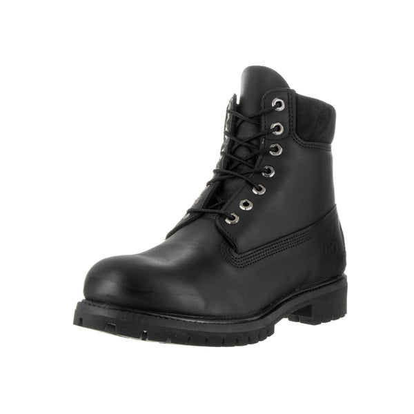 Timberland Men's Black Leather 6-inch Premium Boots