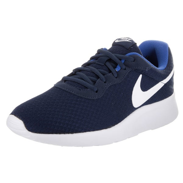 Nike Men's Tanjun Blue Mesh Running Shoes