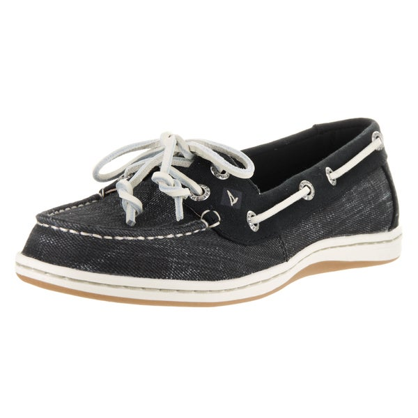 Sperry Top-Sider Women's Firefish Black anvas Ripstop Boat Shoes