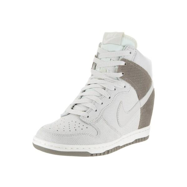 Nike Women's Dunk Sky Hi Beige Suede Casual Shoes