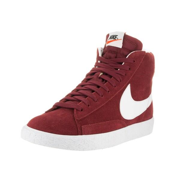 Nike Men's Blazer Mid Prm Red Suede Casual Shoe
