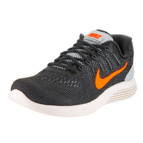 Nike Men's Lunarglide 8 Grey Flyknit Running Shoes