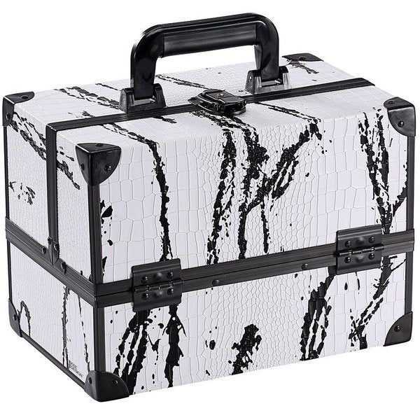 Ikee Design Black and White Splatter Cosmetic Travel Carrying Case