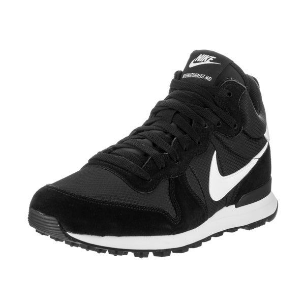 Nike Men's Internationalist Mid Black Suede Running Shoes