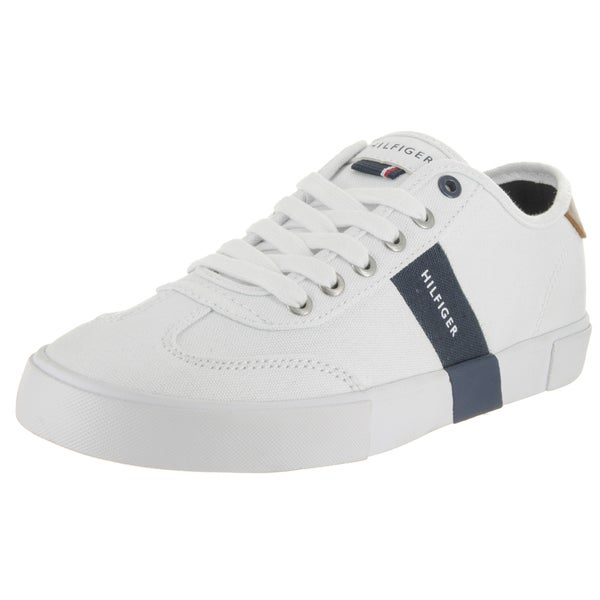 Tommy Hilfiger Men's Pandora White Textile Casual Shoes