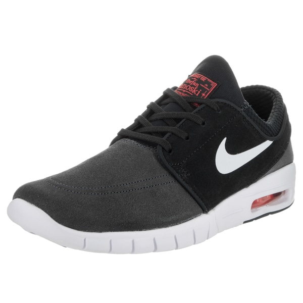 Nike Men's Stefan Janoski Max L Grey Suede Skate Shoes