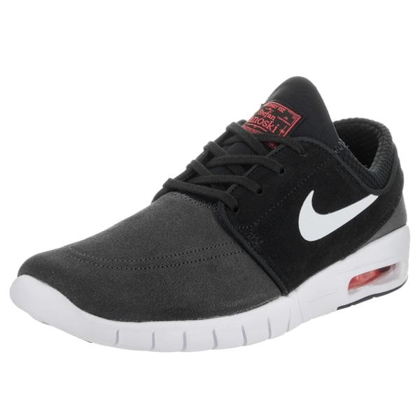 Nike Men's Stefan Janoski Max L Grey Suede Skate Shoes