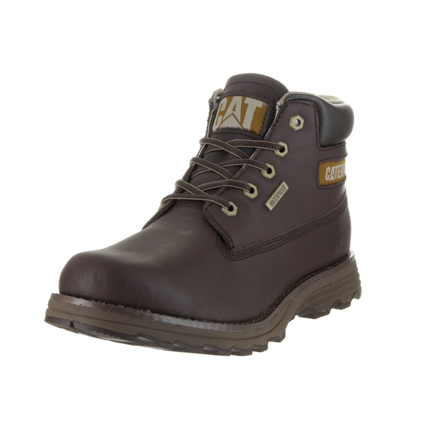 Caterpillar Men's Founder Brown Leather Waterproof Boots
