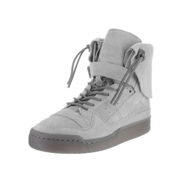 Adidas Men's Forum Grey Suede High-top Casual Shoes