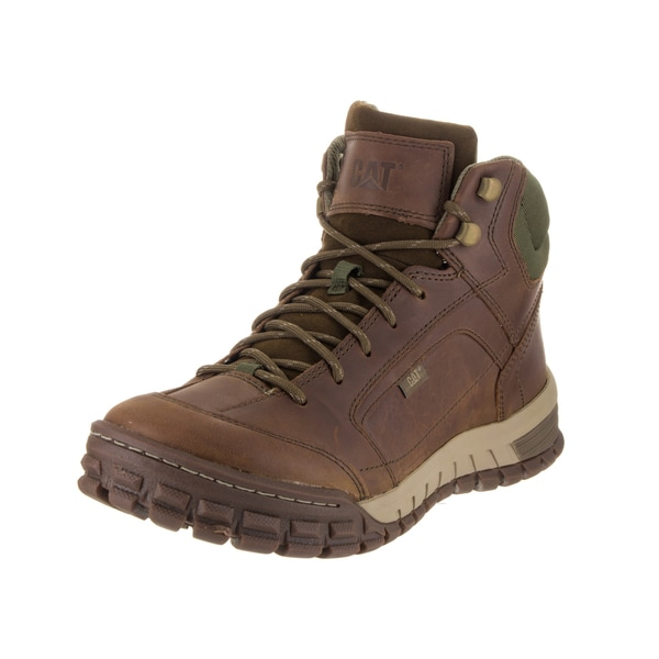 Caterpillar Men's Sentinel Brown Leather Mid Boots