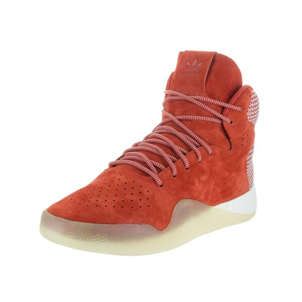 Adidas Men's Orange Suede Tubular Instinct High Top Casual Shoe
