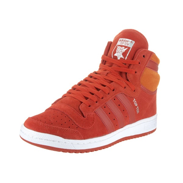 Adidas Men's Top Ten Hi Red Suede Casual Shoes