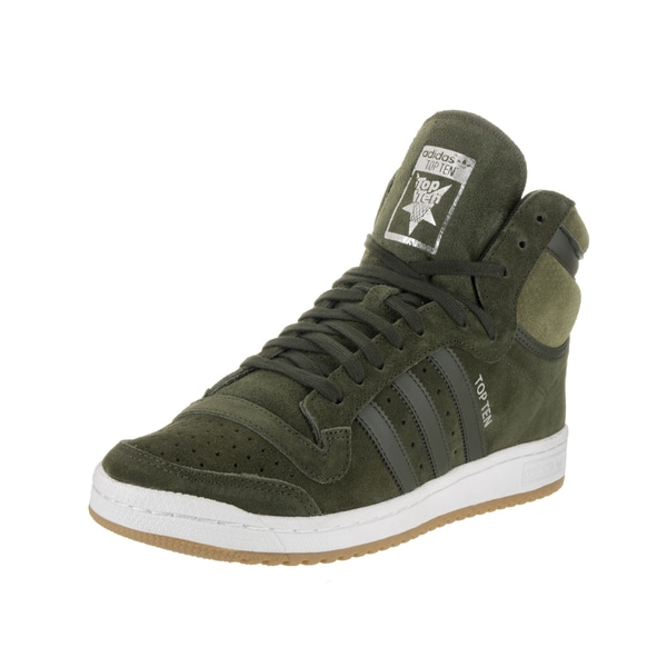 Adidas Men's Top Ten Green Suede High Top Casual Shoes