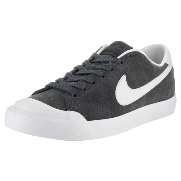 Nike Men's Zoom All Court Ck Grey Suede Skate Shoe