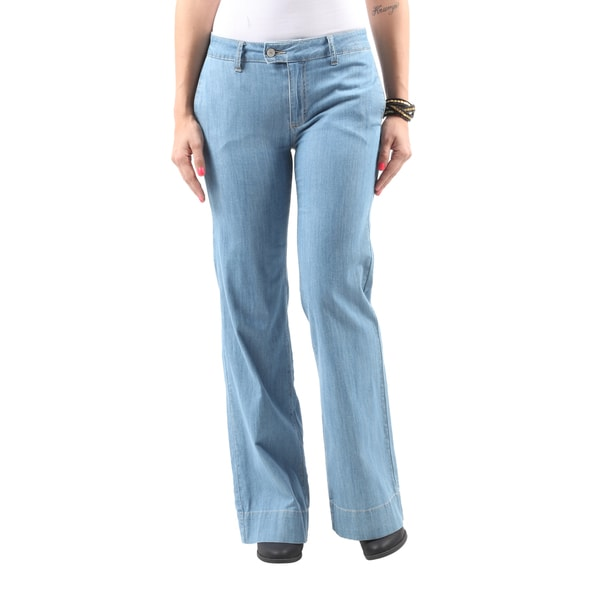 Hadari Women's Casual Stylish Sexy Relaxed Fit Denim Bootcut Jeans