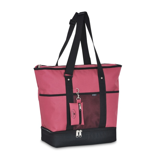 Everest Pink and Black Polyester Insulated Shopper Tote Bag