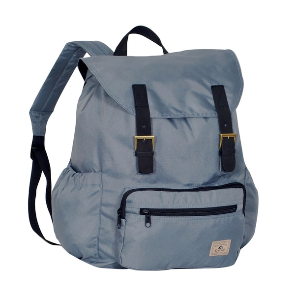 Everest Black/Grey/Olive Polyester 16-inch Stylish Rucksack