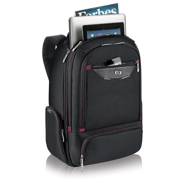 Solo Executive Black 17.3-inch Laptop Backpack