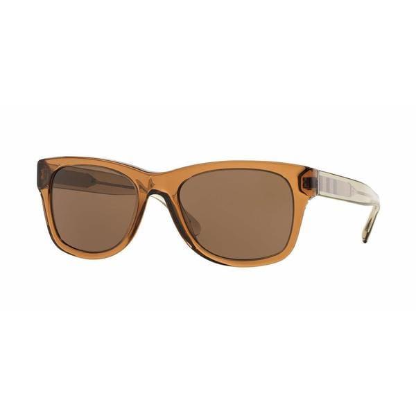 Burberry Mens BE4211 356773 Brown Plastic Square Sunglasses