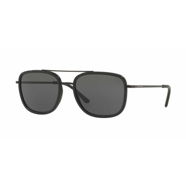 Burberry Mens BE3085Q 10075V Black Metal Square Sunglasses