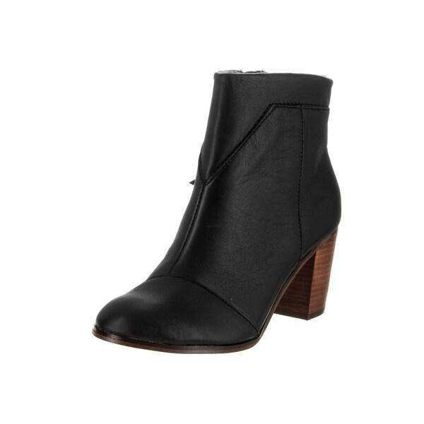 Toms Women's Lunata Black Leather Boots