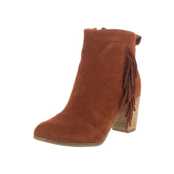 Toms Women's Lunata Brown Suede Boots