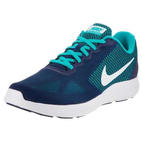 Nike Men's Revolution 3 Blue Mesh Running Shoes