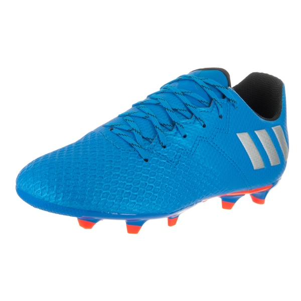 Adidas Boys' Messi 16.3 FG J Blue Synthetic Leather Soccer Cleats