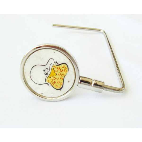 The Plaid Purse Yellow Swirl Purse Bag Hanger