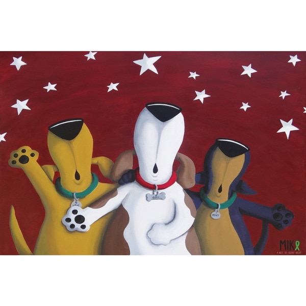 Marmont Hill - 'Not so Silent Night' by Mike Taylor Painting Print on Wrapped Canvas