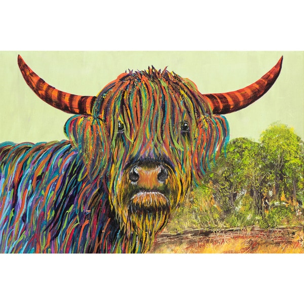 Marmont Hill - 'Ramon Heilan Coo the Conqueror' by France Gilbert Painting Print on Wrapped Canvas